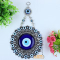 "Turkey blue diamond eyes sun flower Muslim peace metal pendant evil ""Jushi wall hangings"