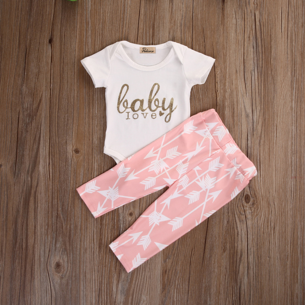 2pcs2016-Newborn-Girls-Long-Sleeve-Golden-Letters-Tops-Rompers-Arrow-Pink-Pants-Leggings-Autumn-Baby-Outfits-Set-Clothes-1