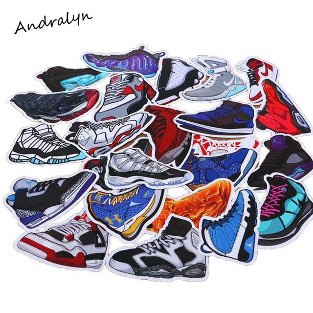 100 Jordan Bande Pcspack Sneaker Mixte Autocollants Pour Dessinée HArHw7OUq
