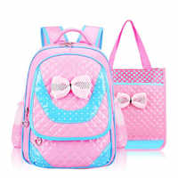 New Fashion Children School Bags Girls High Quality PU Children Backpack School Backpacks Child Book Bag 2018 Free Shipping D359