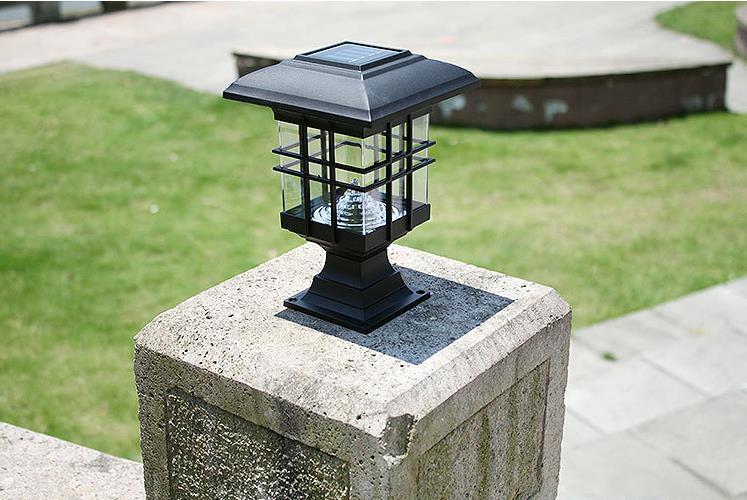 Cheap solar pillar lights
