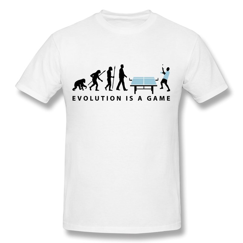 100 Cotton T Shirt Men Evolution Table Tennis Boys Tshirts Design Your Own O Neck Tee Shirt In