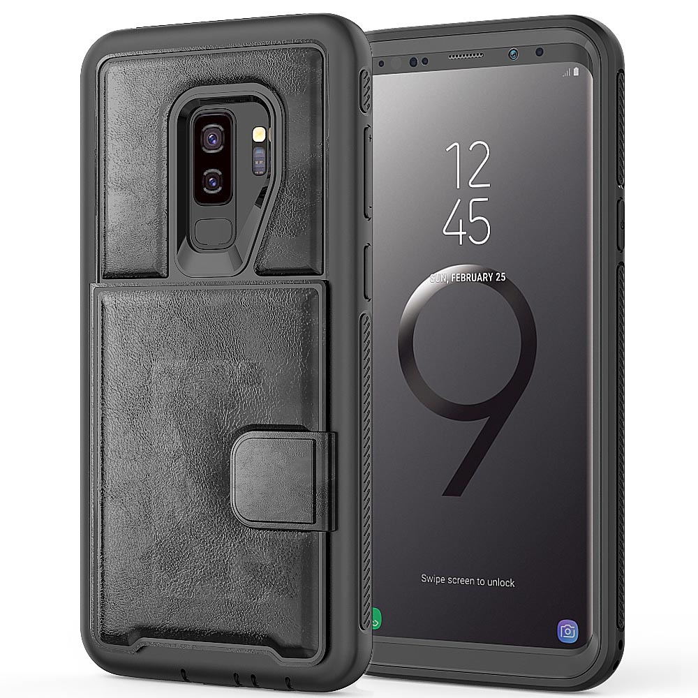 Luxury Slim Phone Case Smart Flip Cover Soft Solid Color Wallet Cover for Samsung Galaxy S9 Innrech Market.com