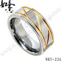 Free Shipping Yellow Gold Plating Mens Tungsten Carbide Ring  Fashion Jewelry Finger Ring 8mm
