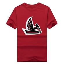 2017 New Fashion Men's Atlanta Drinking Wine Logo Falcons T-Shirt Short Sleeve Cotton t shirts Man 100% Cotton