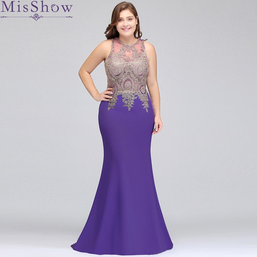 Robe Demoiselle D\'honneur Cheap Purple Lavender Beaded Mermaid Lace ...