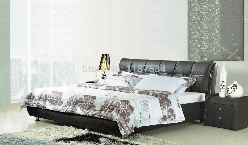 Bedroom furniture king size large soft bed leather comfortable bed B233 simple leisure contemporary modern leather bed king size bedroom furniture made in china