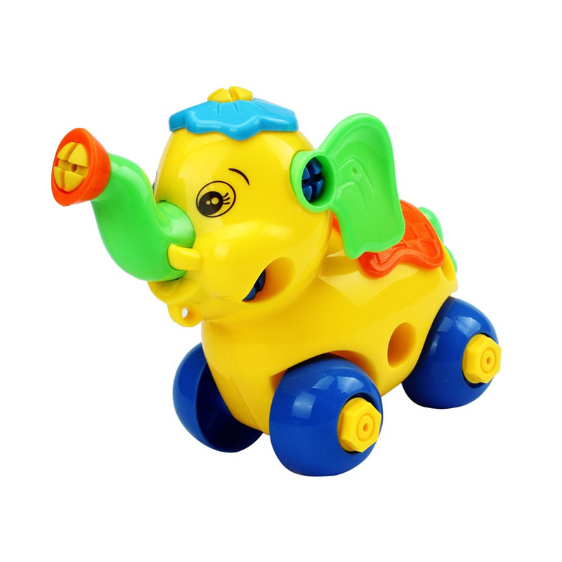 hand training disassembly elephant car design educational toys for children kids boys brinquedo menino model building kits