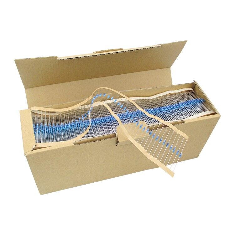 Металл резистор Цветной кольцо резистор 1% 1 м 1/4 Вт 0,25 Вт (5000 шт./лот)