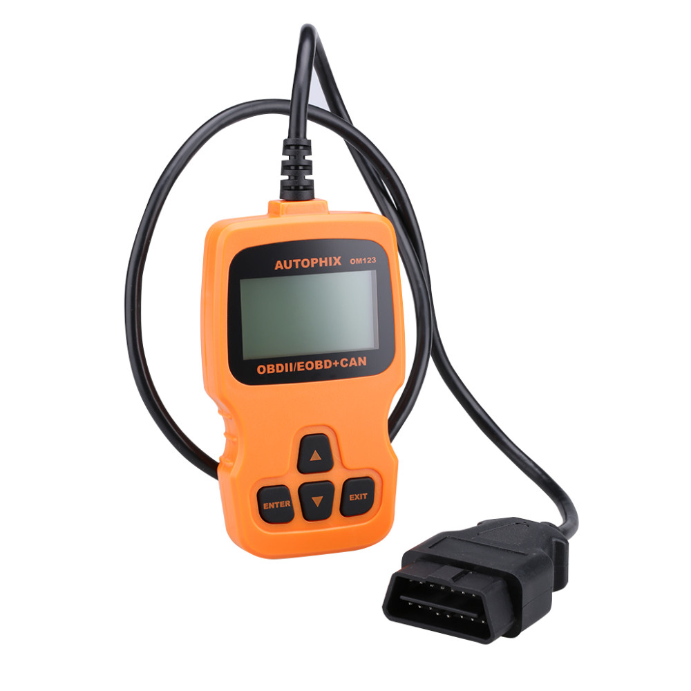 OM123 OBD2 EOBD CAN Hand-held Engine Auto Diagnostic Tool Code Reader