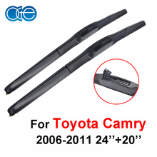 Oge paar windschutzscheibe wischerblätter für toyota camry 2006-2011, fit windschutzscheibe silikonkautschuk scheibenwischer arm, auto auto zubehör