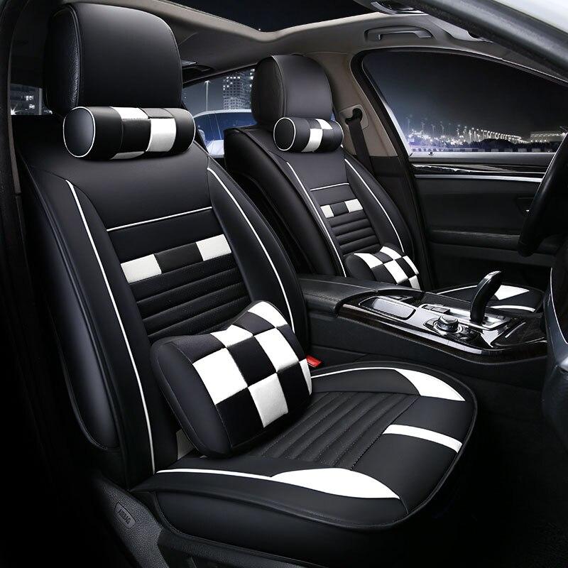 Universal car seat cover seats covers leather for UAZ 3153 3157 3162 3260 31512 31514 Hunter pickup Maserati GranTurismo