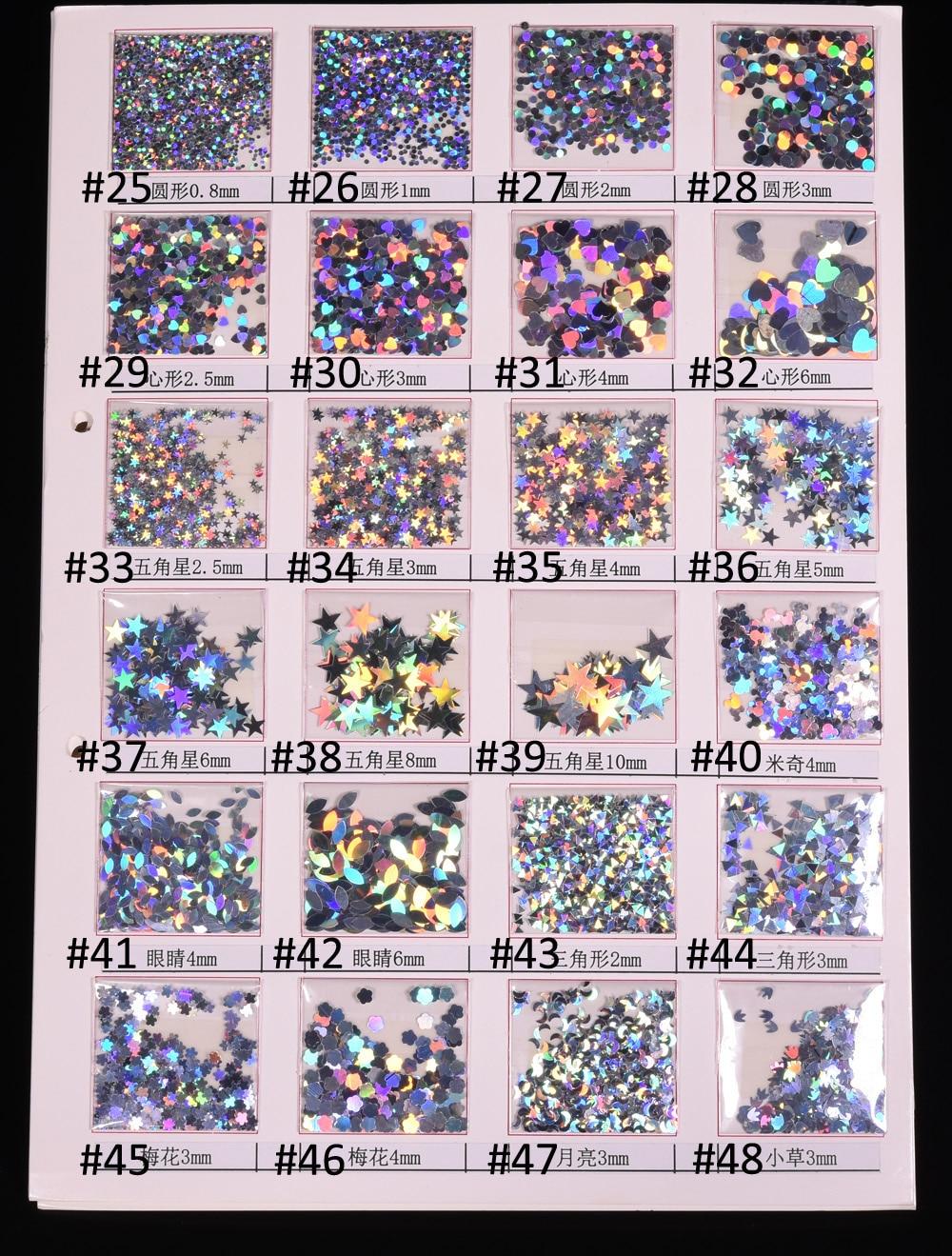 FäHig 1000g/usd74.2 Silber Chunky Holographische Mix Sparkly 48 Stile Glitter Neue Regenbogen Handwerk Haar Gesicht Körper Nagel Glitter Nails Art & Werkzeuge