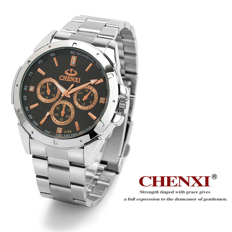 CHENXI Brand Fashion Classic Hot Couple Lovers Quartz Wristwatch Delicate Luxury Full Steel Strap Watches Men Women Relogio Gift
