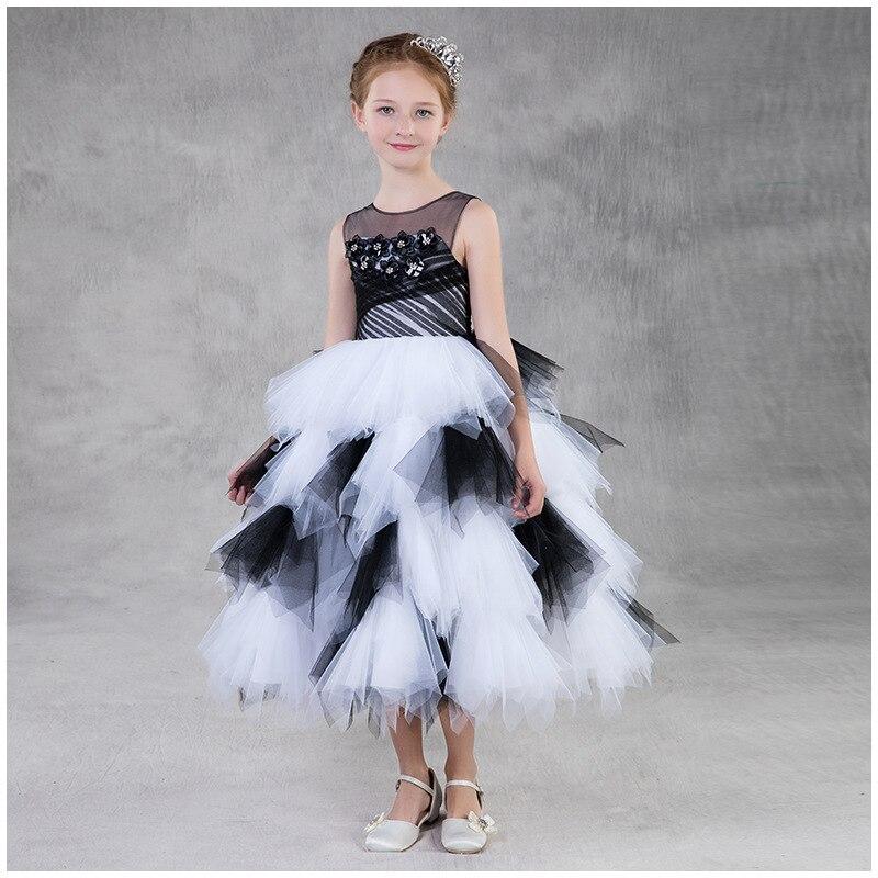 Tulle Ball Gown   Flower     Girl     Dresses   For Weddings Cute O-neck Sleeveless Patchwork Colorful   Flower     Girl     Dress