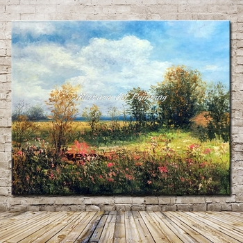 Mintura Art Hand Painted Landscape Oil Painting On Canvas Modern Abstract Wall Pictur For Living Room Home Decoration No Frame