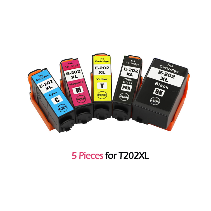 5pc for <font><b>EPSON</b></font> T202 T202XL Compatible Ink Cartridge Replacement for <font><b>Epson</b></font> XP-6000 XP-6005 XP-6001 <font><b>202XL</b></font> image