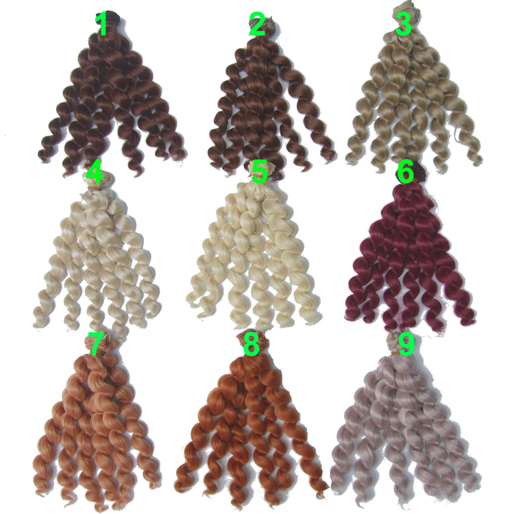 1 Piece 20cm Length Excellent High Qualtity Thick Doll Hair  1/3 /1/4 1/6 Bjd Curly BJD Wigs SD Doll Hair