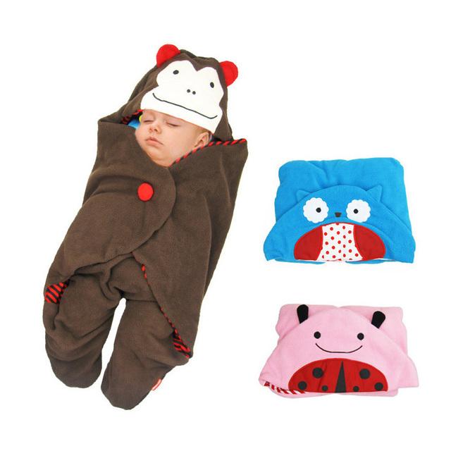 Footmuff cobertor do bebê infantil moletom com capuz saco de carrinho de criança saco recém-nascido outono inverno receber cobertores roupas de bebê receber cobertores