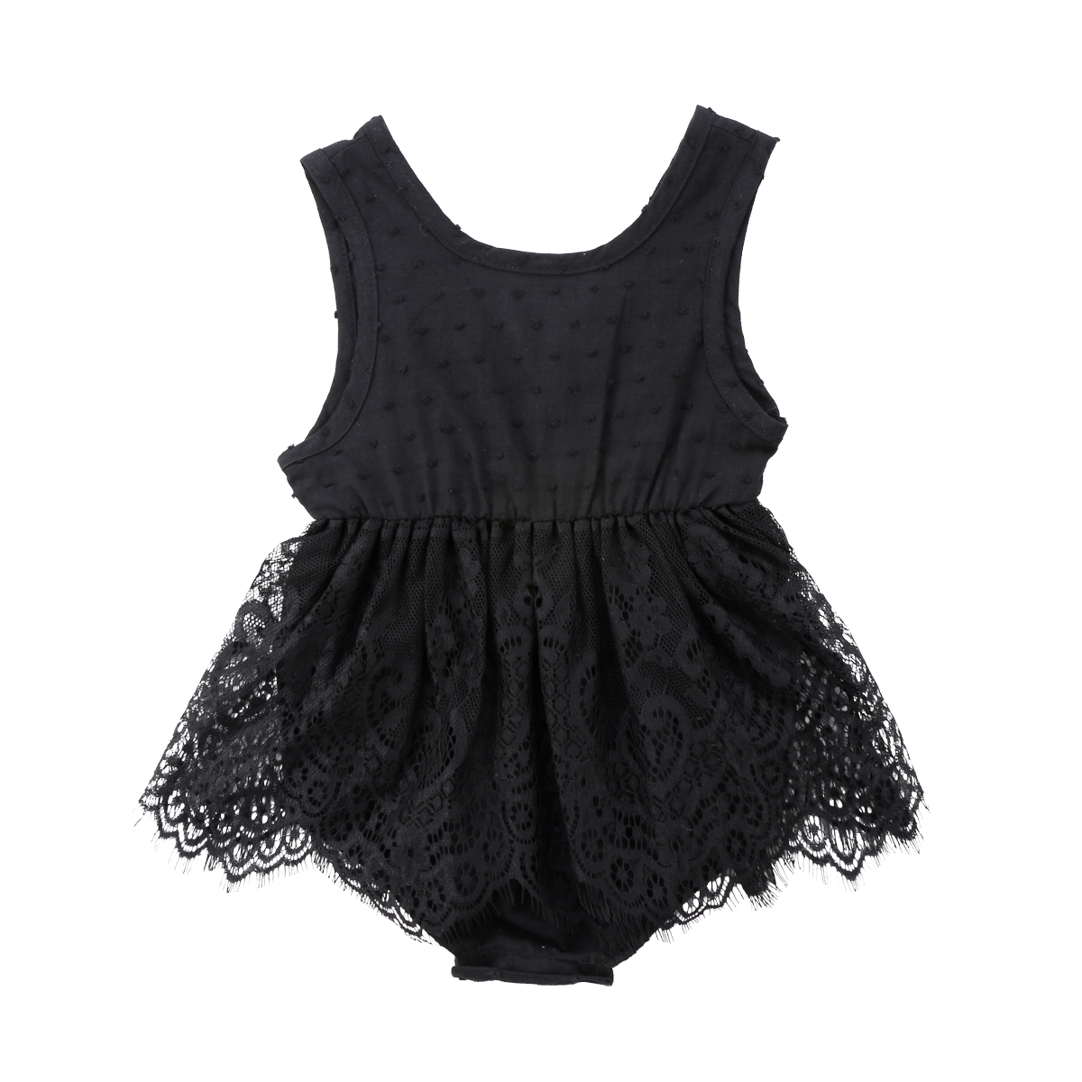Newborn Infant Baby Girls Clothing Tops Lace   Romper   Sleeveless Cute Ruffles Jumpsuit Outfits Clothes Baby Girl 0-18M