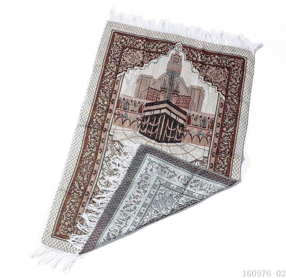 Image 3 - Cotton Yarn Muslim Prayer Rug Grey Rug for Living Room Kitchen  Rug Rectangle Small Carpet Indian Rugs Tassel Outdoor Tiles MatIslamic  Clothing