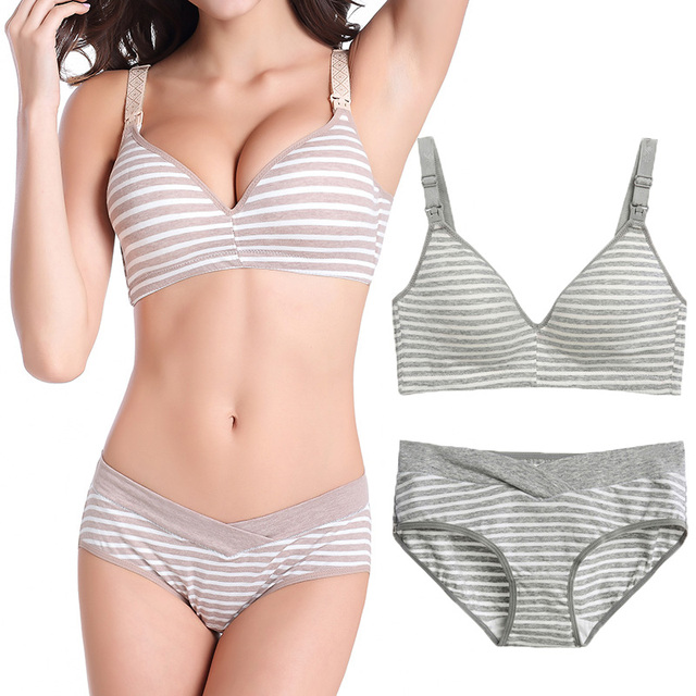 e790dfef4b1 Maternity Nursing Bra+Pants Underwear Set Breastfeeding bra for Pregnant  women Pregnancy Feeding Underwear Briefs Clothing
