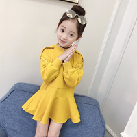 Black Yellow Birthday Girls Dress 2018 Long Sleeve Autumn Casual Kids Clothes Toddler Girl Clothing Back To School Outfits 10 12