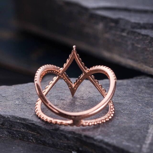 a78653a8ed8c Anillo de plata 925 anillo de diamantes de oro rosa de oro jade Chapado en  joyería