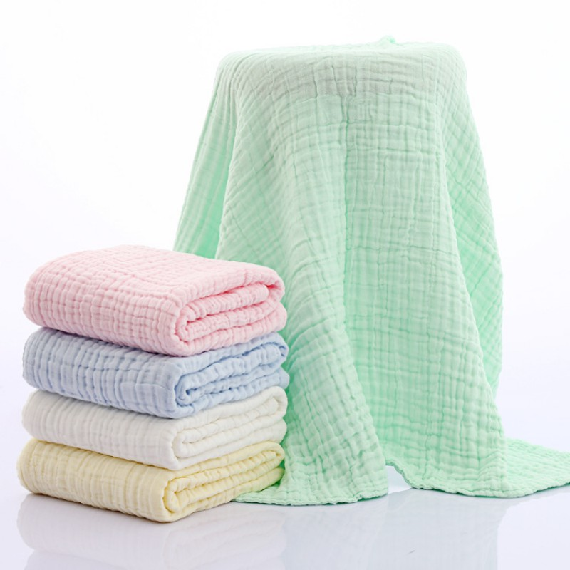 105x105CM 100% Cotton Kids Blanket Swaddle Printing Towel Non-fluorescent Six-layer Gauze Bath Towel