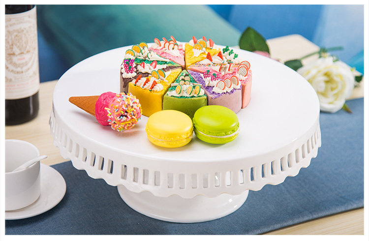 8 inch 10 inch 12 inch ceramic cake stand wedding white cake pan wedding cake plate cupcake decoration display-in Stands from Home \u0026 Garden on ... & 8 inch 10 inch 12 inch ceramic cake stand wedding white cake pan ...