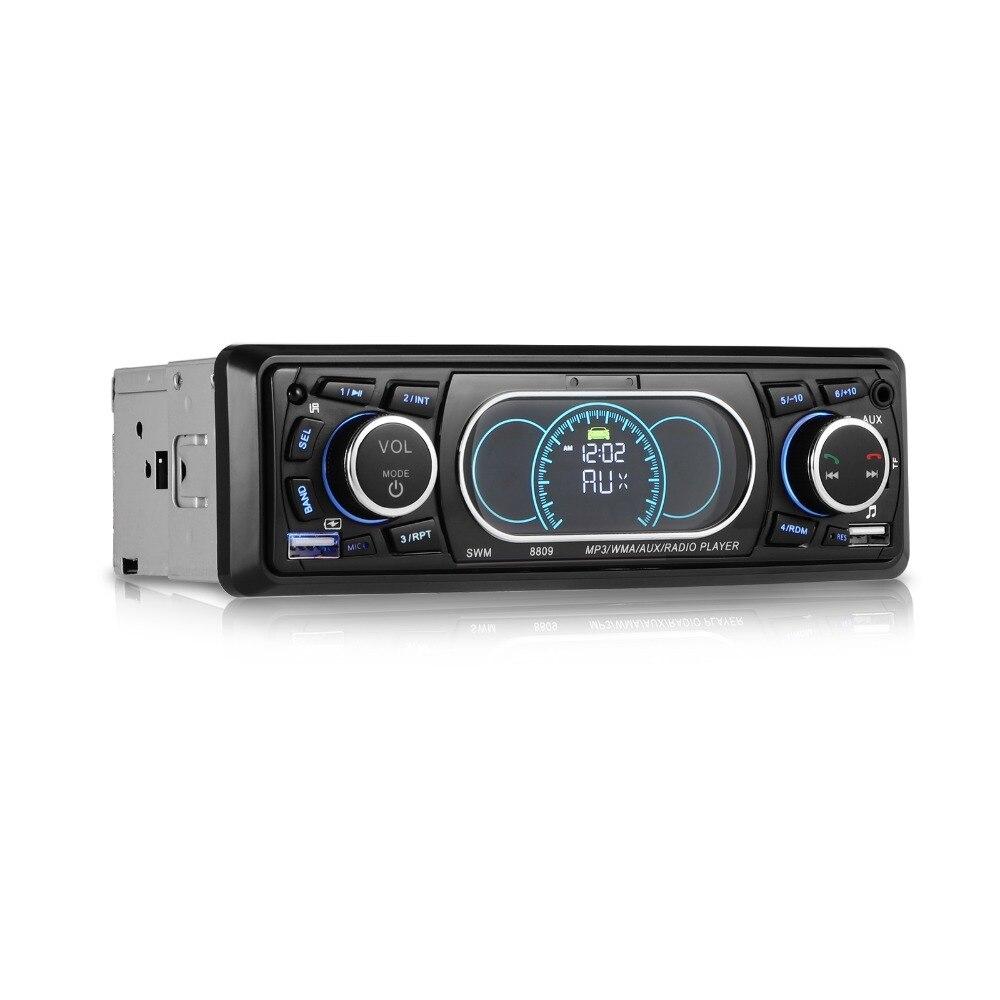 Bluetooth 1-дин стерео аудио в тире MP3 Радио плеер Поддержка USB/TF/AUX/ fm приемник с Беспроводной пульт дистанционного управления