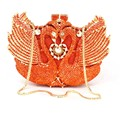 Gold Crystal Evening Bag Animal Swan Ladies Purse Party Bag Day Clutches Wedding Clutch Bag for Feast Diamond Banquet bag 88171