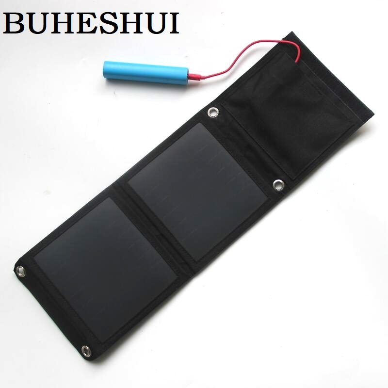 BUHESHUI 8W 5V Outdoor Solar Panel Charger For/iphone/ Mobile Phone/Power Bank USB Solar Battery Charger Sunpower High Quality