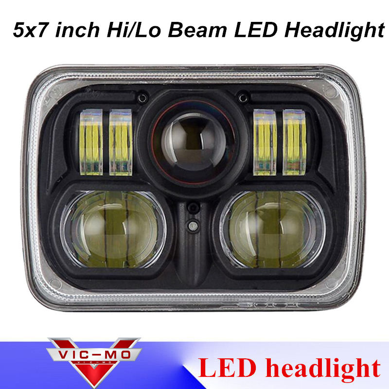 1pcs 5x7inch LED Rectangular Headlight Driving Light for