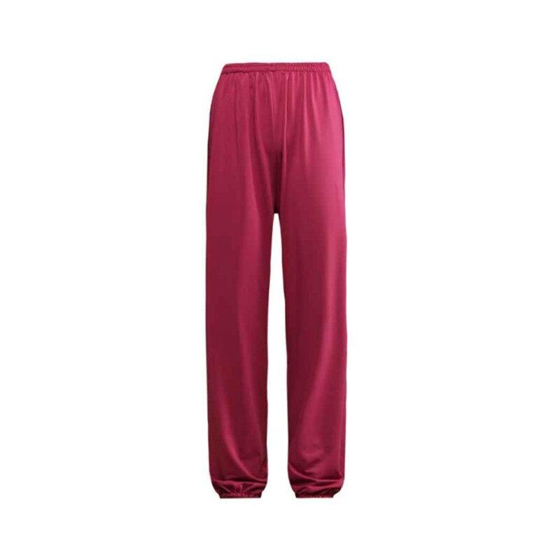 Traditional Chinese Unisex Men Women Cotton Rayon Martial Arts Tai Chi Taiji Wing Chun Pants Kung Fu Bloomers Trousers