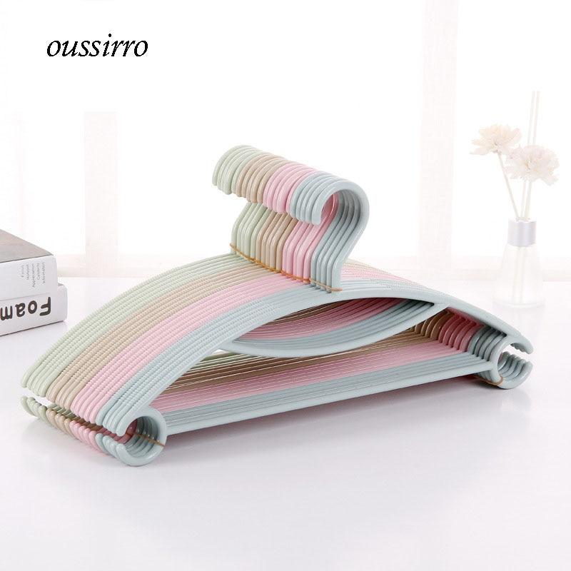 10 stks / partij 40 cm Volwassen dip antislip Plastic hanger kleding - Home opslag en organisatie