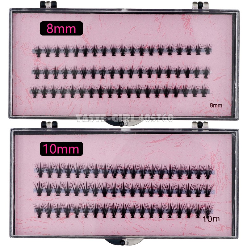 Image 5 - Wholesale 60 packs/lot Pro 57 Knots 20 Hairs Black Individual False Eyelashes Eye Lash Makeup Extension Kit 8mm 10mm 12mm 14mm-in False Eyelashes from Beauty & Health