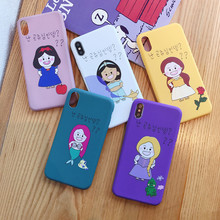 Korea Style Cartoon Princess Phone Case For iPhone 8 7 7Plus 6S 6 Plus Cute Soft TPU Back Cover Case For iphone XR Xs Max XR