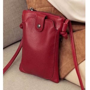 Image 1 - 2020 New Arrival Women Shoulder Bag Genuine Leather Softness Small Crossbody Bags For Woman Messenger Bags Mini Clutch Bag