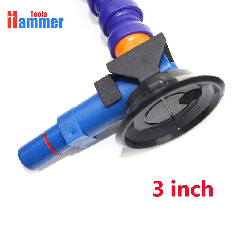 Tools : 3 inch Heavy Duty Hand Pump Suction Cup with flexible gooseneck pipe for car dent KING lamp