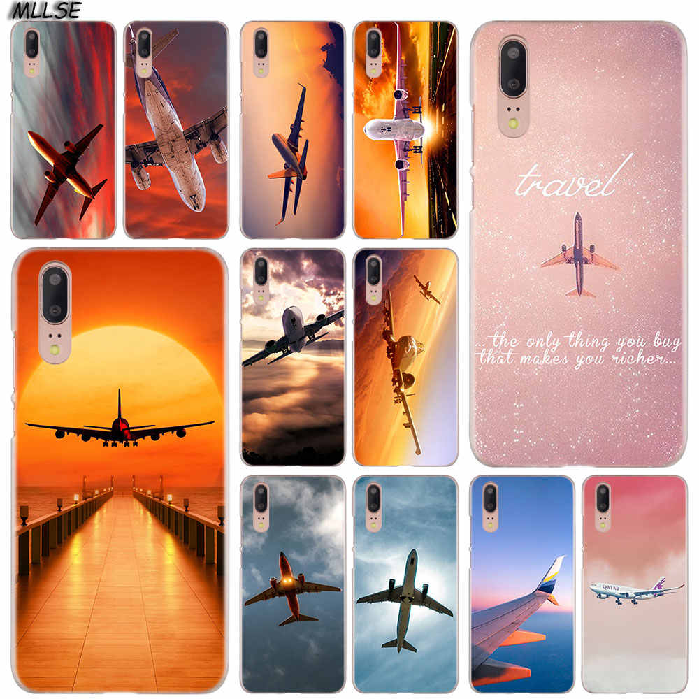 MLLSE Clouds Sky Aircraft colorful air plane Case Cover for Huawei P30 P20 P10 P9 P8 Lite 2017 P30 P20 Pro Mini P Smart Plus Hot
