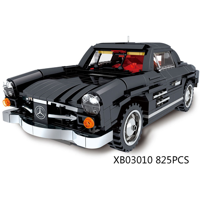 Classic Dream-cars Creative Super Luxury Cars Benz Vintage Car MOC Building Block Model Bricks Toys for Boys Gifts Collection 1 18 scale children brand miniature 300slr uhlenhaut coup vintage classic die cast cars styling metal model toys gifts for boys