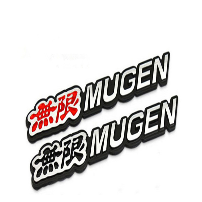 1 pcs MUGEN excellent new 3d Emblem Chrome Logo Rear Badge Trunk Car StickerS for Civic Accord CRV FIT Car Styling cafoucs 3d letters for hyundai accent car rear trunk emblem abs chrome badge logo nameplate sticker
