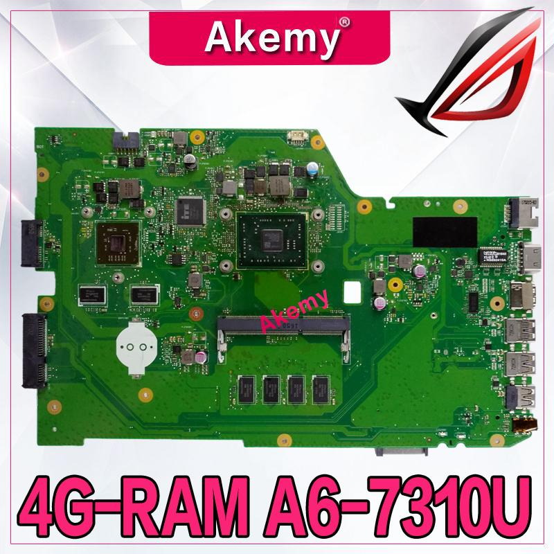 Akemy X751YI Laptop motherboard For ASUS X751Y X751YI K751Y Mainboard 2GB Graphics card 4GB RAM A6