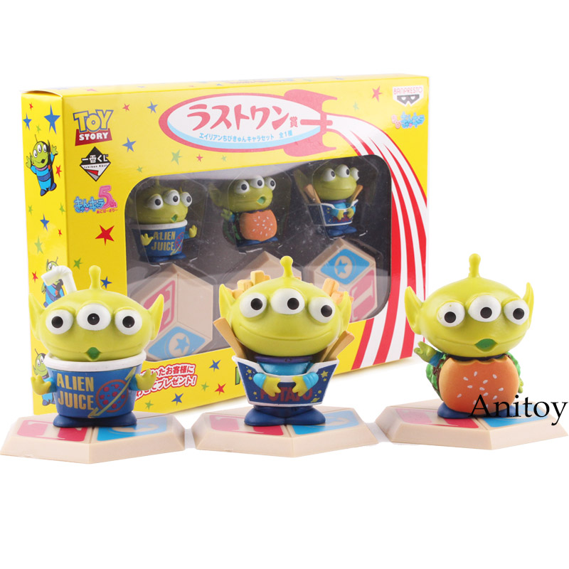 Toy Story Alien Mini Trick or Toys PVC Action Figure Toy Dolls Kids Childrens Gifts 3-pack 4.5cm KT4798