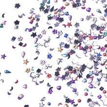 1000Pcs Crystal ab Nail Rhinestones Flat Back Non Hotfix Glitter Nail  Stones DIY 3D Nail Phones 890d527eda29