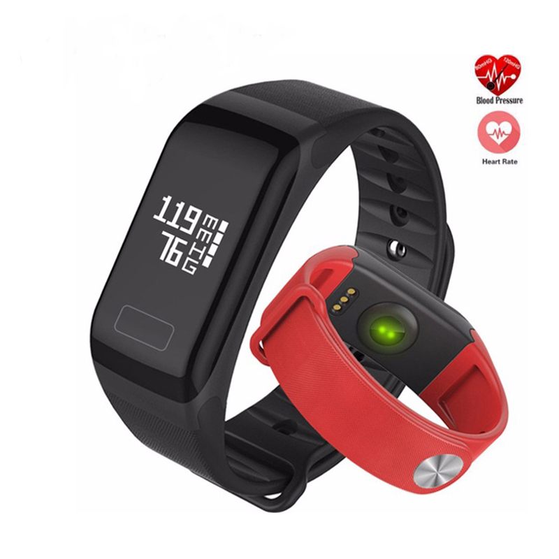 2018 F1 Smart Bracelet Heart Rate Blood Pressure Monitor Call Reminder Fitness Tracker Waterproof Activity Tracker for iPhone