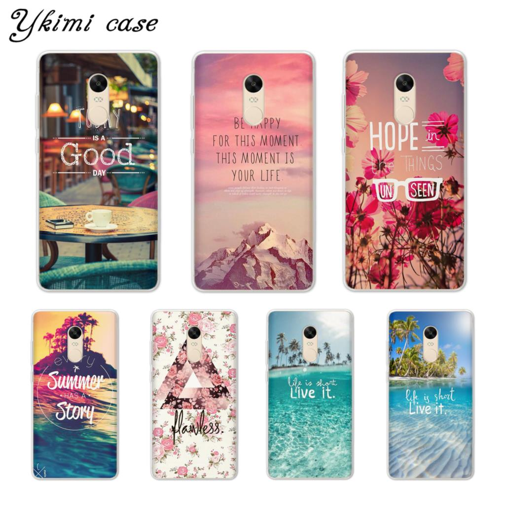 Ykimi Case beautiful scenery Cover For Xiaomi Redmi 4x 4a 5 Plus 5a 6 Pro Note 4x 5 Pro 5a Case Transparent Soft TPU Silicone in Fitted Cases from Cellphones Telecommunications