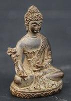 60MM/2.4 Collection Chinese Bronze Exquisite Tantra Buddhism Shakyamuni Menla Medicine Buddha Medical God Statue Statuary 147g