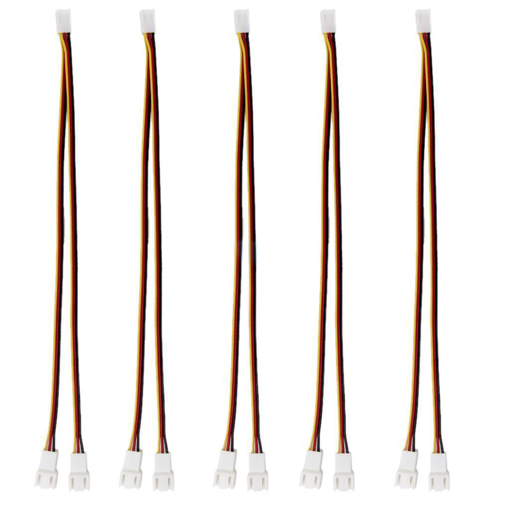 High Quality Fan Connector 5Pcs 12V 3 Pin Female To 2/3 Pin Male PC Fan Power Splitter Installer Extension Cable